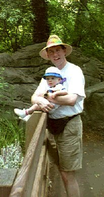 Josh and Daddy at the Zoo